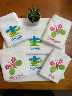 personalised face washers