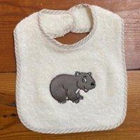 wombat baby bib